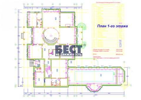 Продается дом, 1250 кв.м., Успенский лес
